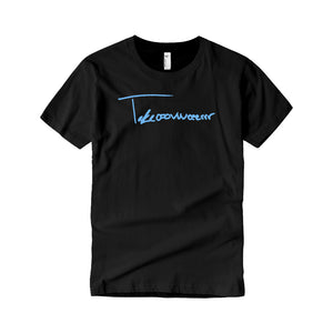 Takeover Signature T-Shirt (Black/Baby Blue)