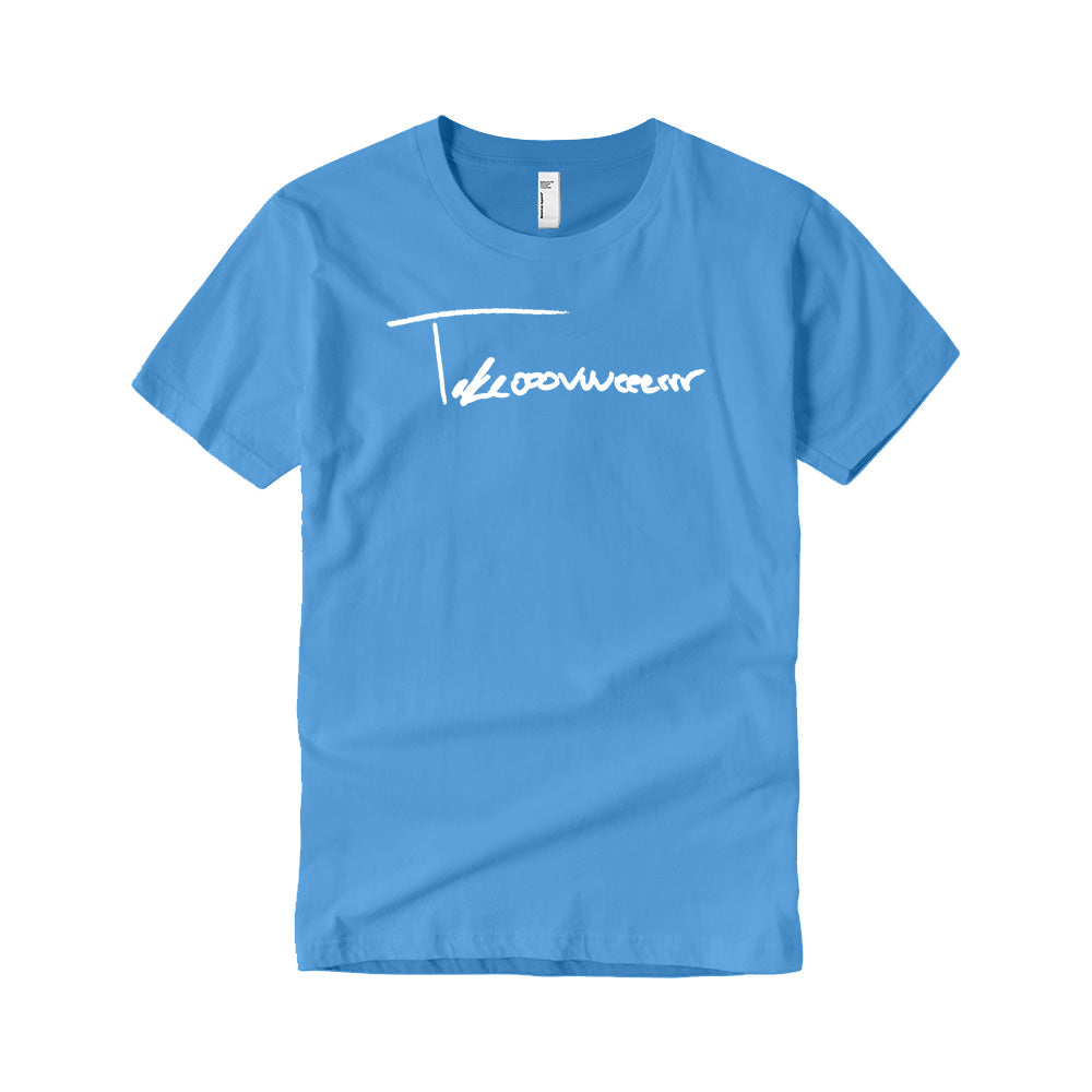 Takeover Signature T-Shirt (Baby Blue/White)