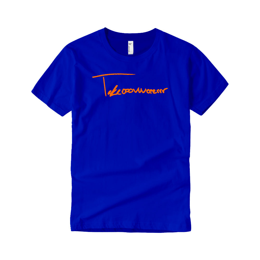 Takeover Signature T-Shirt (Royal Blue/Orange)