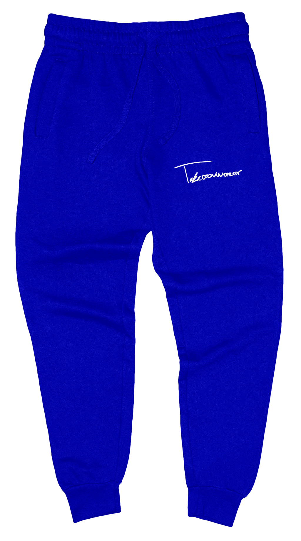Takeover Signature Sweatpants (Royal Blue/White)
