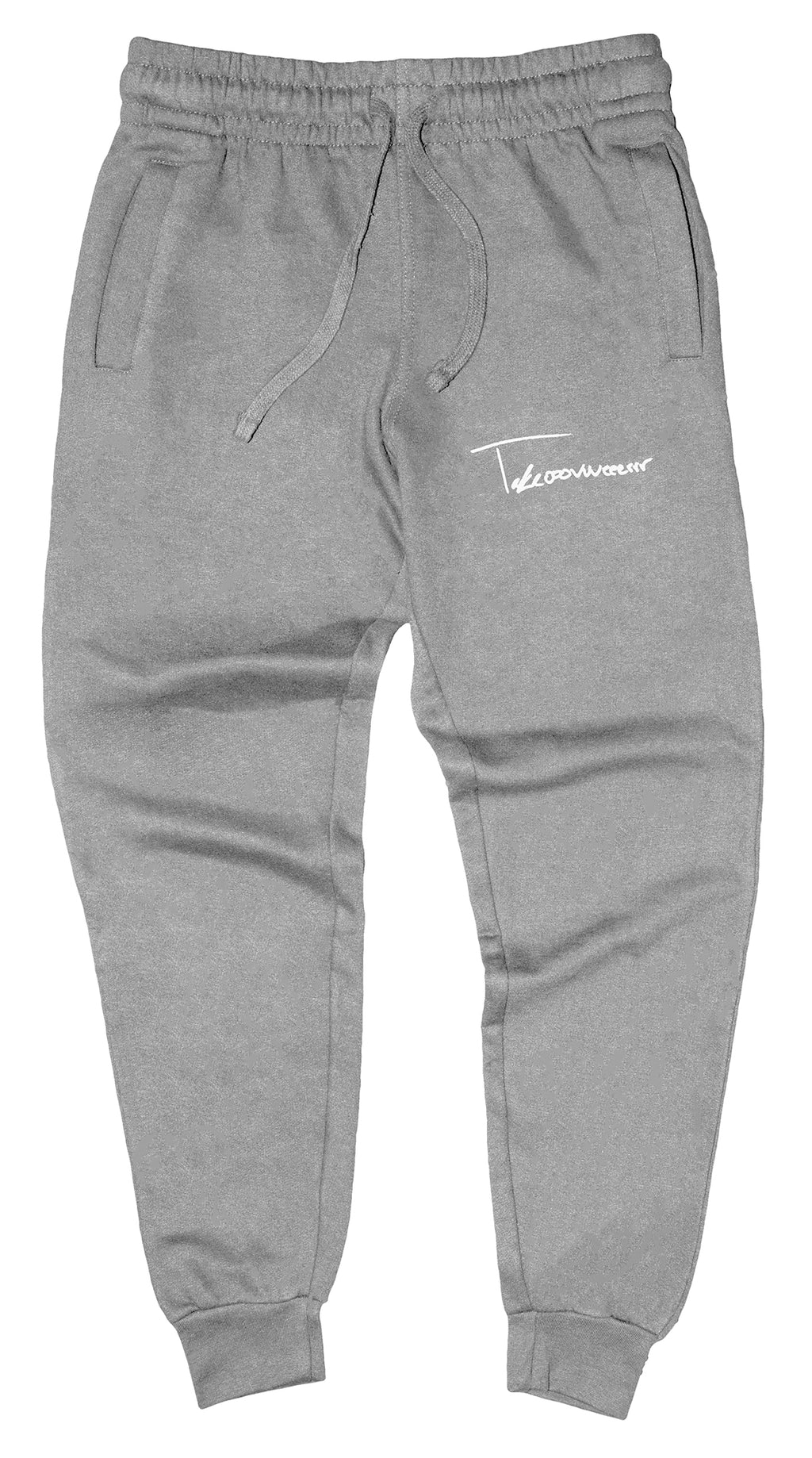 Takeover Signature Sweatpants (Gray/White)