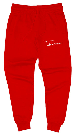 Takeover Signature Sweatpants (Red/White)