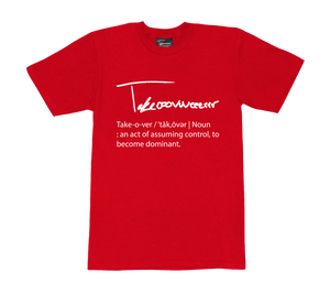 Takeover Definition T-Shirt (Red/White)