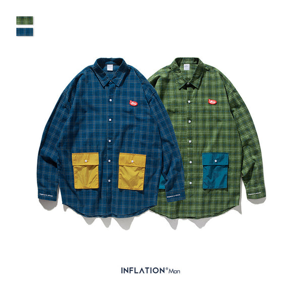 INF | Checked Three-dimensional Shirt