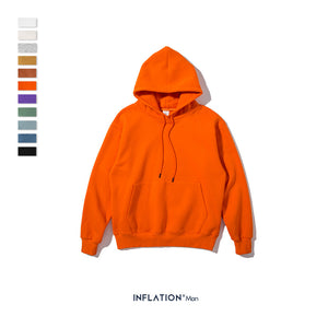 INF | Solid Color Plus Velvet Oversize Hooded Sweater