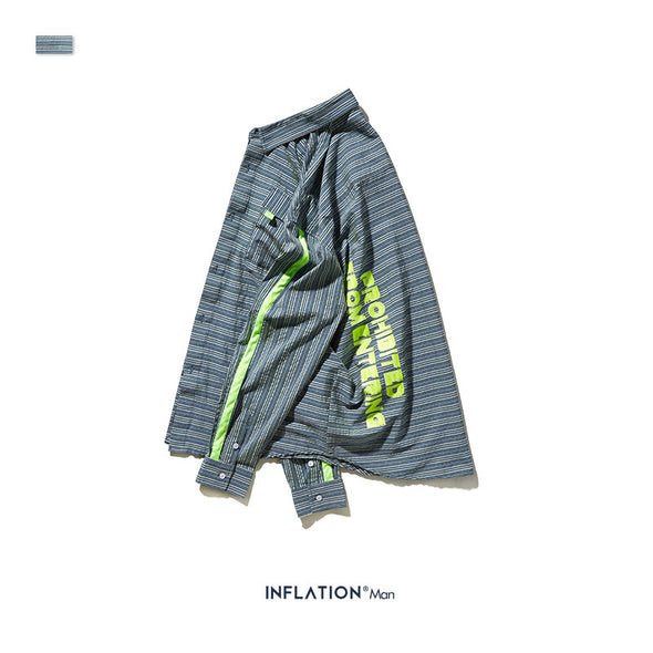 INF | Fluorescent Green Print Shirt