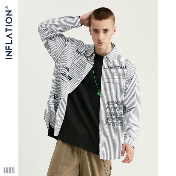 INF | Letter Vertical Striped Shirt