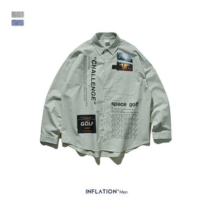 INF | Fashion Striped Wild Shirt