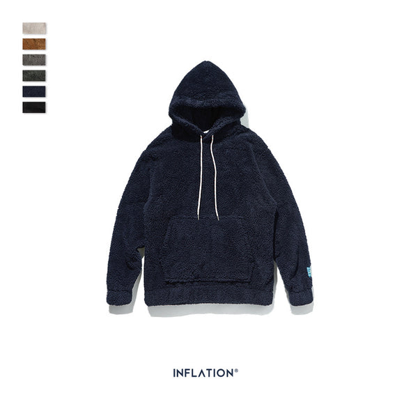 INF | Solid Color Hooded Sweater