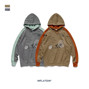 INF | Contrast Color Hooded Sweater