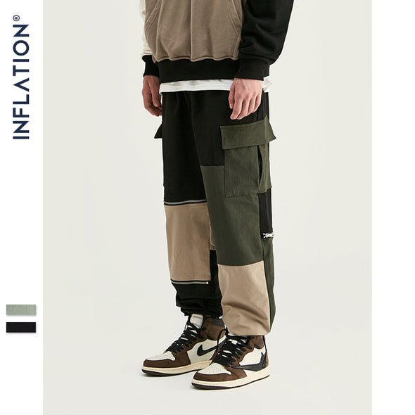 INF | Personalized Contrast Zip Pants