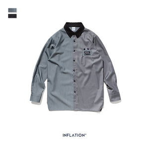 INF | Striped Solid Color Shirt