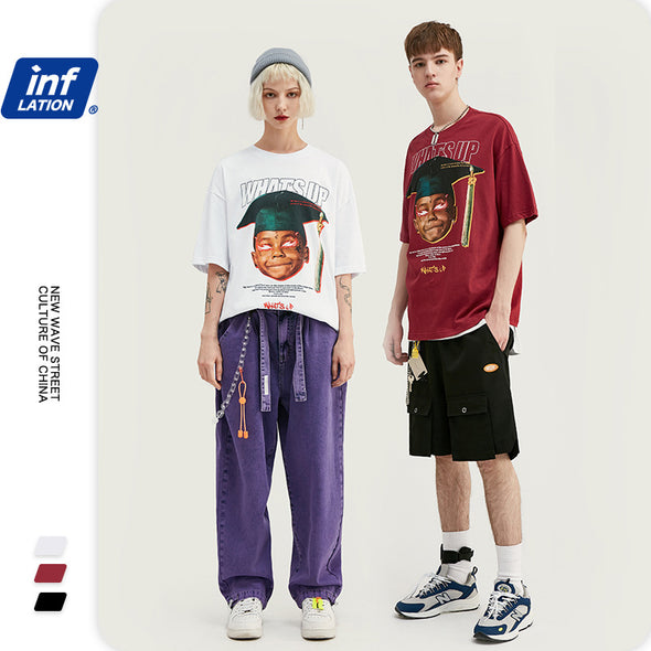 INF | Fun character print short T-shirt
