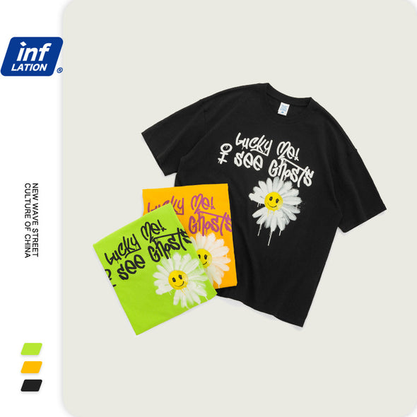 INF | Graffiti daisy smiley T-shirt