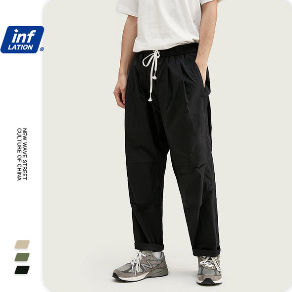 INF | Pleated Solid Color Overalls
