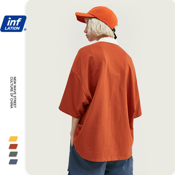 INF | Solid color short T-shirt