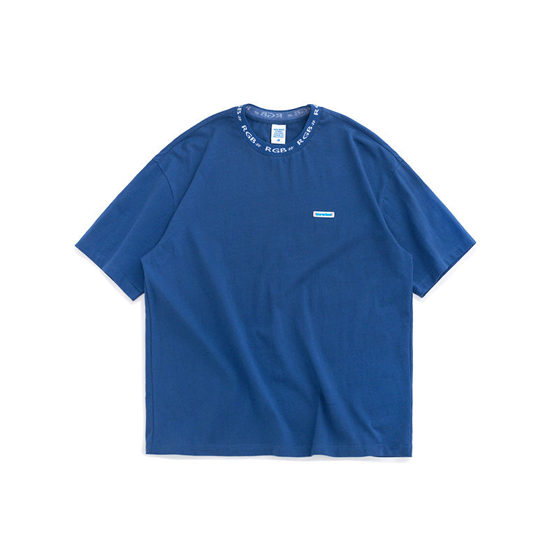 INF | Simple solid color loose short T-shirt