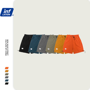 INF | Solid color stretch track pants