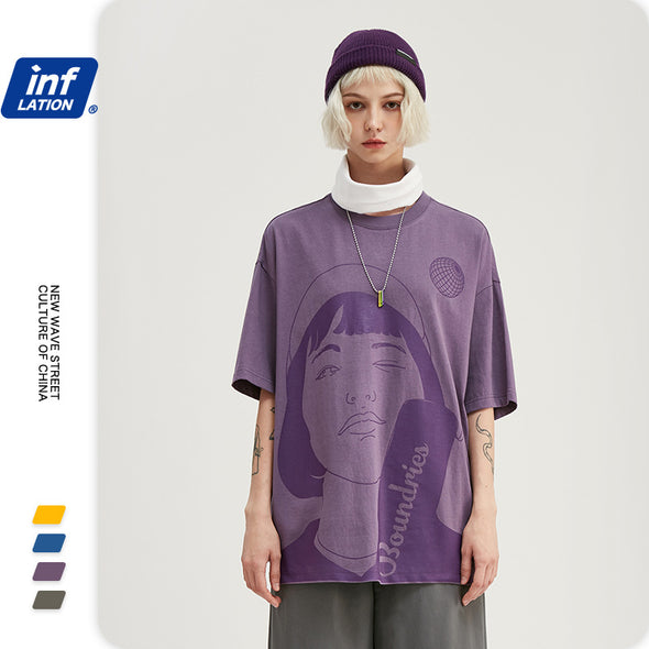 INF | Fun Abstract Character T-shirt