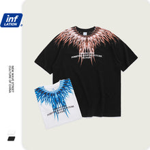 Load image into Gallery viewer, INF | Wings print loose short T-shirt