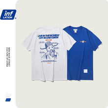 Load image into Gallery viewer, INF | 《Blue&White Bacchus》Humble Short T-Shirt