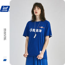 Load image into Gallery viewer, INF | 《Blue&White Bacchus》0°Youth short sleeve