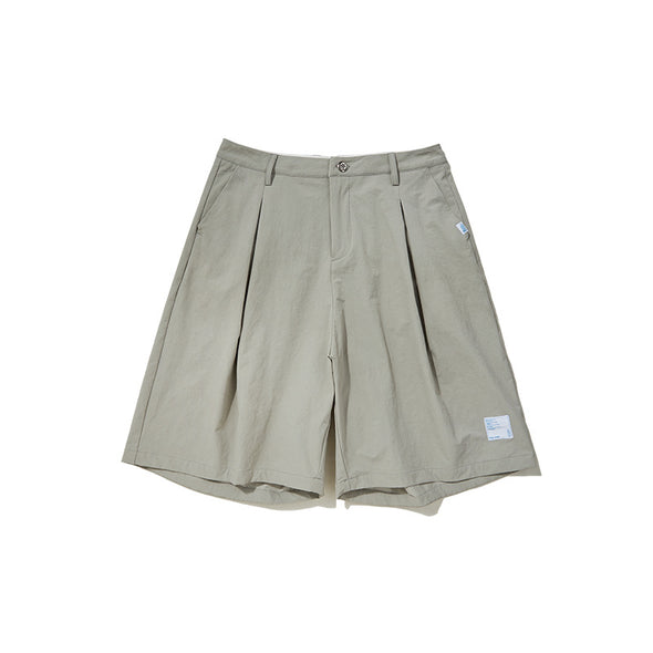 INF | 《Blue&White Bacchus》Solid color wild loose shorts