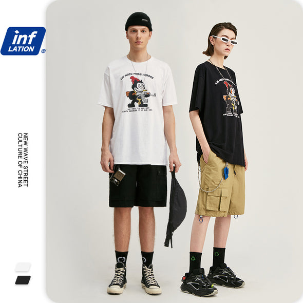 INF | Diablo cartoon print short T-shirt