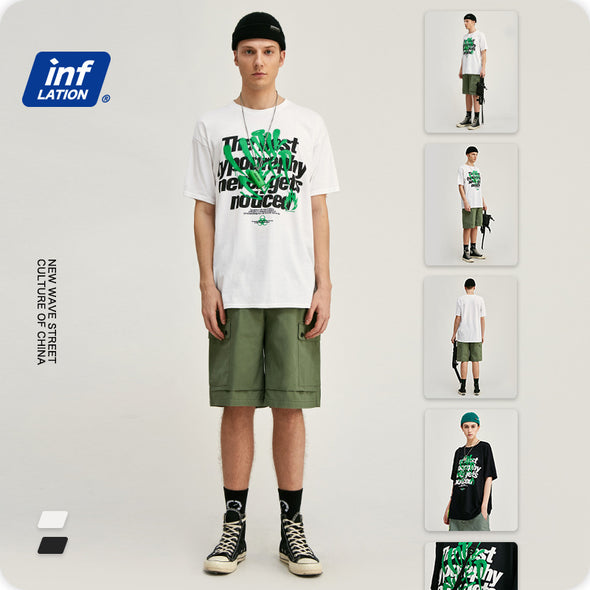 INF | Graffiti English print short T-shirt