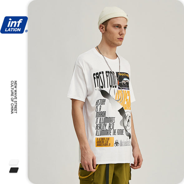 INF | English letter short T-shirt