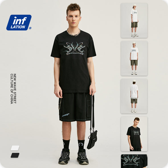 INF | Dark print short T-shirt