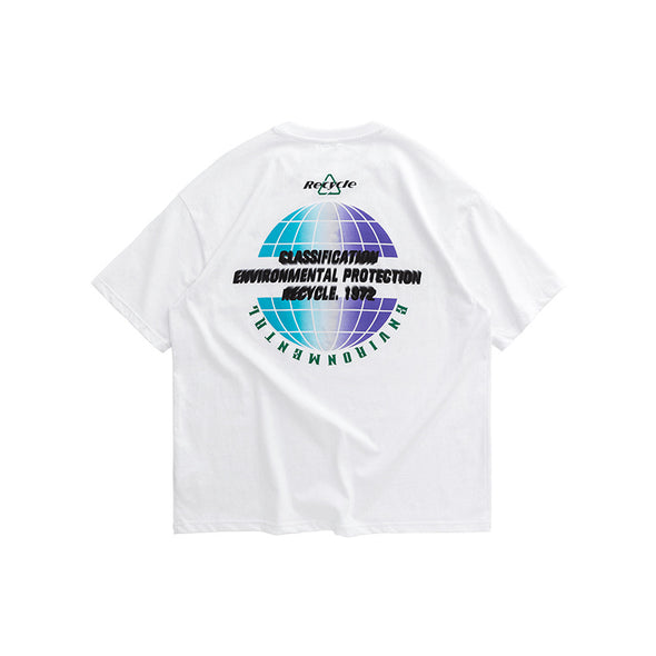 INF | English Print Loose Short T-shirt