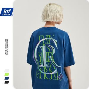 INF | Letter Loose Casual T-shirt