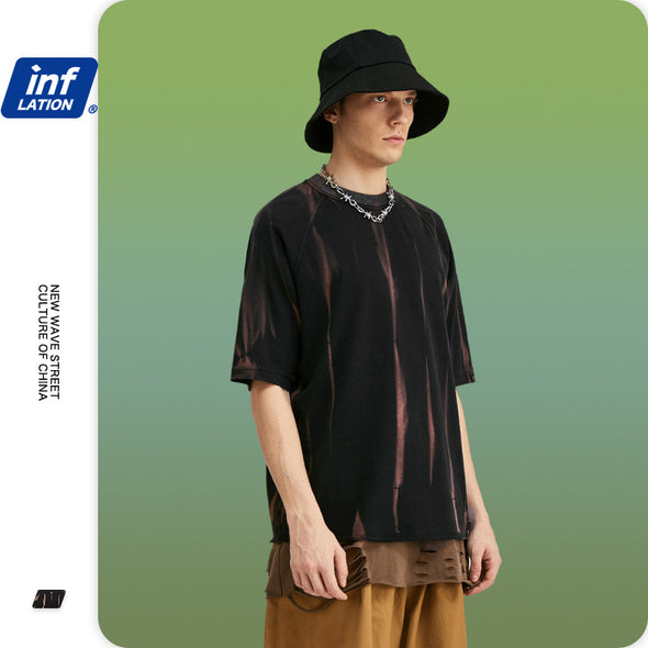 INF | Irregular Manual Spray Color T-shirt