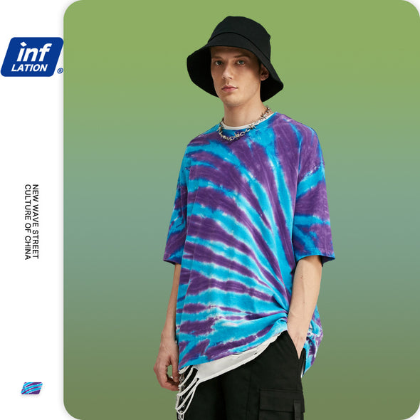 INF | Trendy Personality Contrast T-shirt