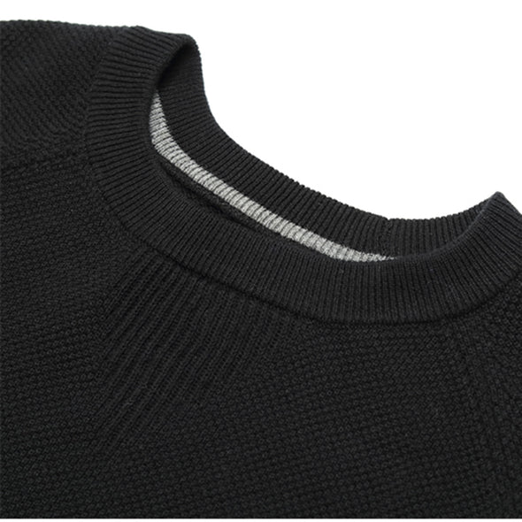 LadyCare Women's Casual Loose Knitted Sweater Lantern Sleeve Crewneck