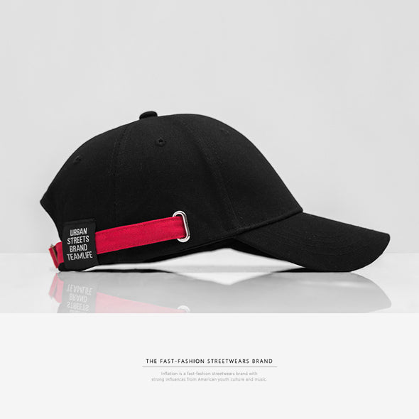INF | Black and Red Contrast Baseball Cap