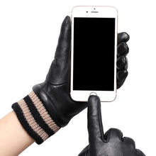 Load image into Gallery viewer, LadyCare Leather Gloves For women, Winter Warm Cashmere Gloves