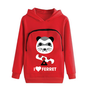 Ferret Lovers Hoodie Cuddle Pouch