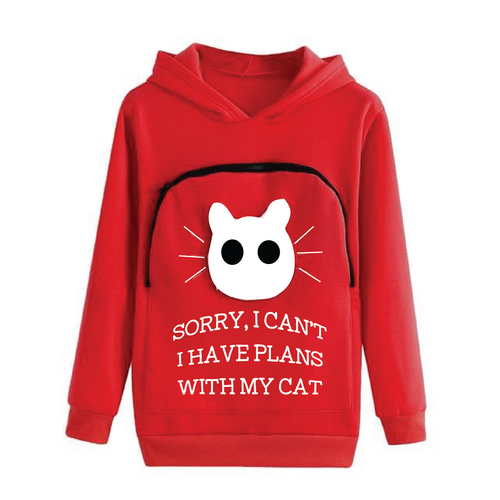 Cat Hoodie Cuddle Pouch