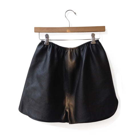 Pony Leather Shorts