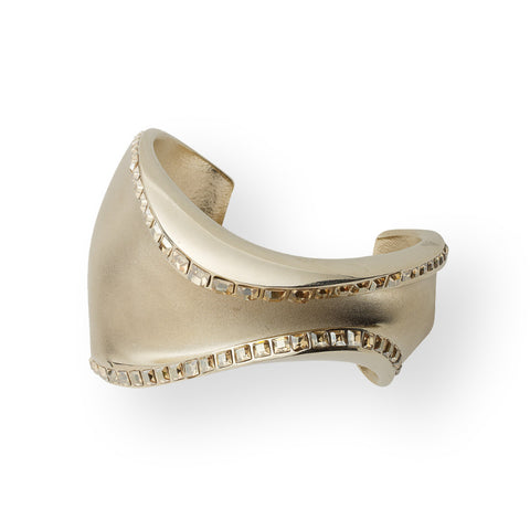 Shiny and Matte Gold Plated Cuff
