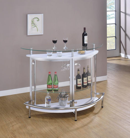 Glass and Chrome Bar Unit image