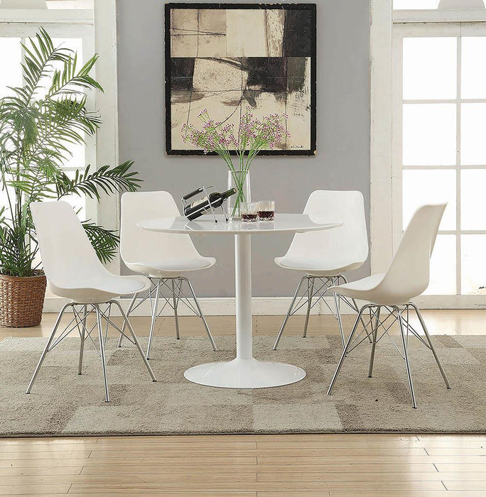 Lowry Contemporary White Dining Chair image