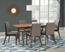 Load image into Gallery viewer, Redbridge Mid-Century Modern Natural Walnut Dining Table