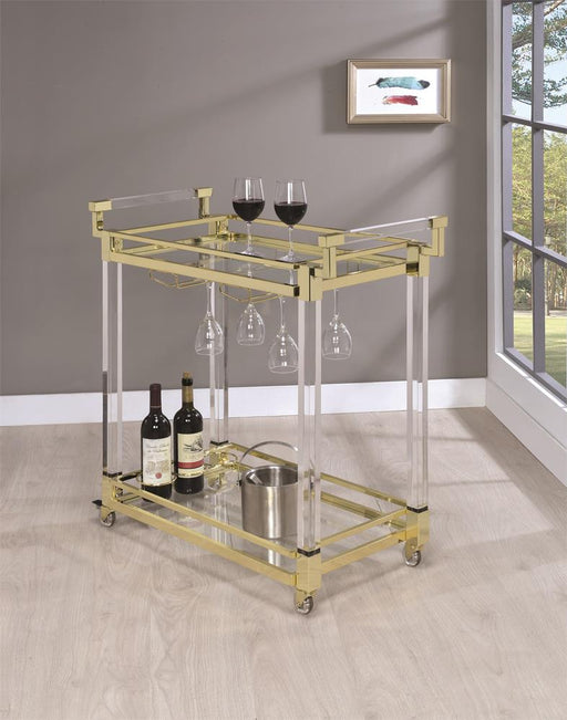 Modern Clear Acrylic Serving Cart image