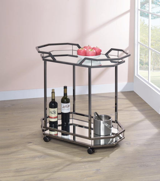 Traditional Black Nickel Serving Cart image