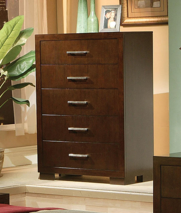 Jessica Cappuccino Five-Drawer Chest image