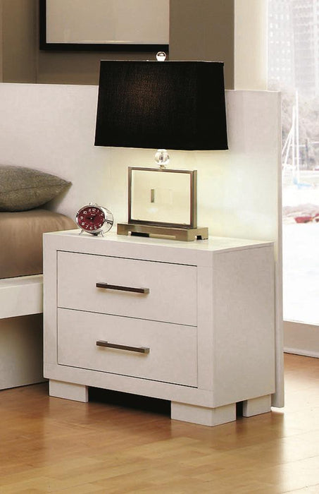 Jessica Contemporary White Nightstand image