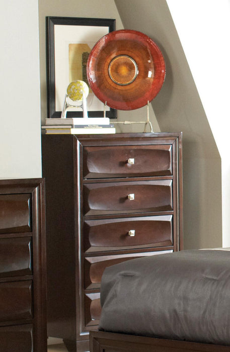 Jaxson Transitional Cappuccino Five-Drawer Chest image